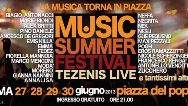 Musica gratis a Roma con il Music Summer Festival
