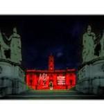"""Violenza sulle donne, """"Roma dice no"""". E il Campidoglio si illumina di rosso"""