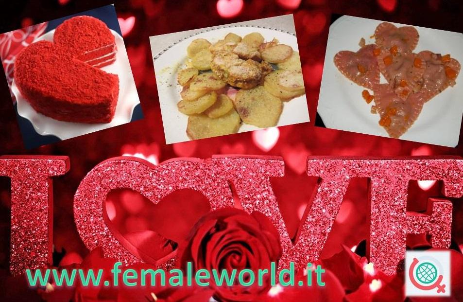 San Valentino: menu degli innamorati