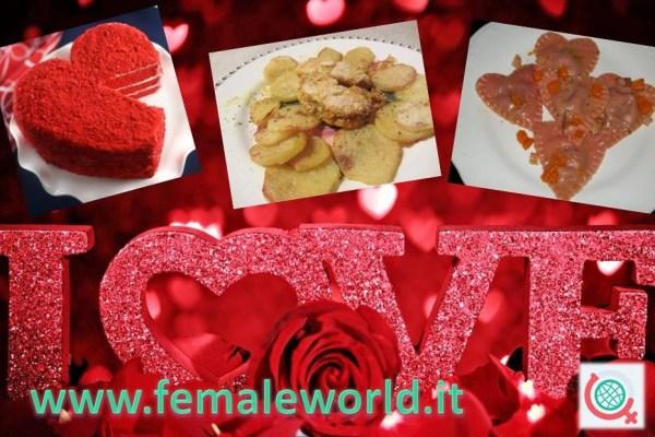 San Valentino menu degli innamorati