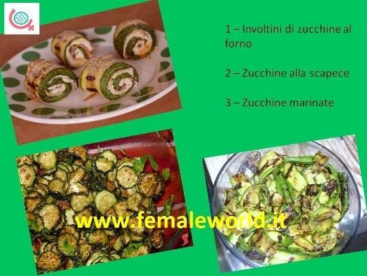 Zucchine: 3 semplici ricette da preparare