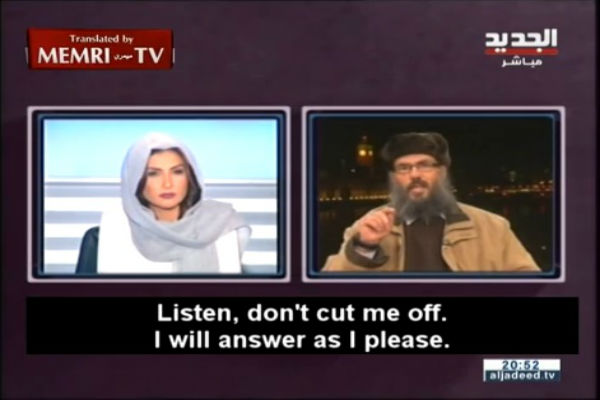 """""""Stai zitta, donna"""" ma è la giornalista Rima Karaki a zittire l'islamico"""