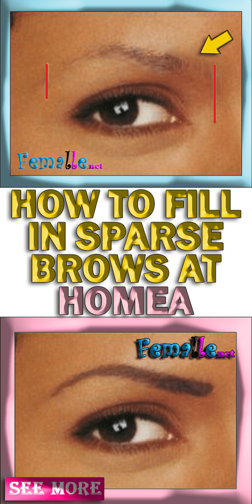 Learn how to fix your rare eyebrows home