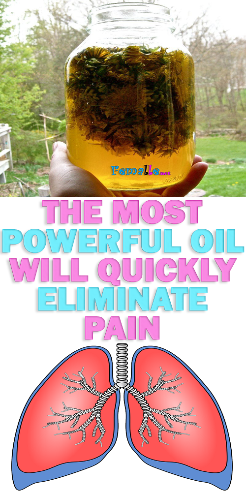 The most Powerful Oil will quickly Eliminate pain in the Joints, Neck, Arthritis, Gout, cysts in the chest, Headaches
