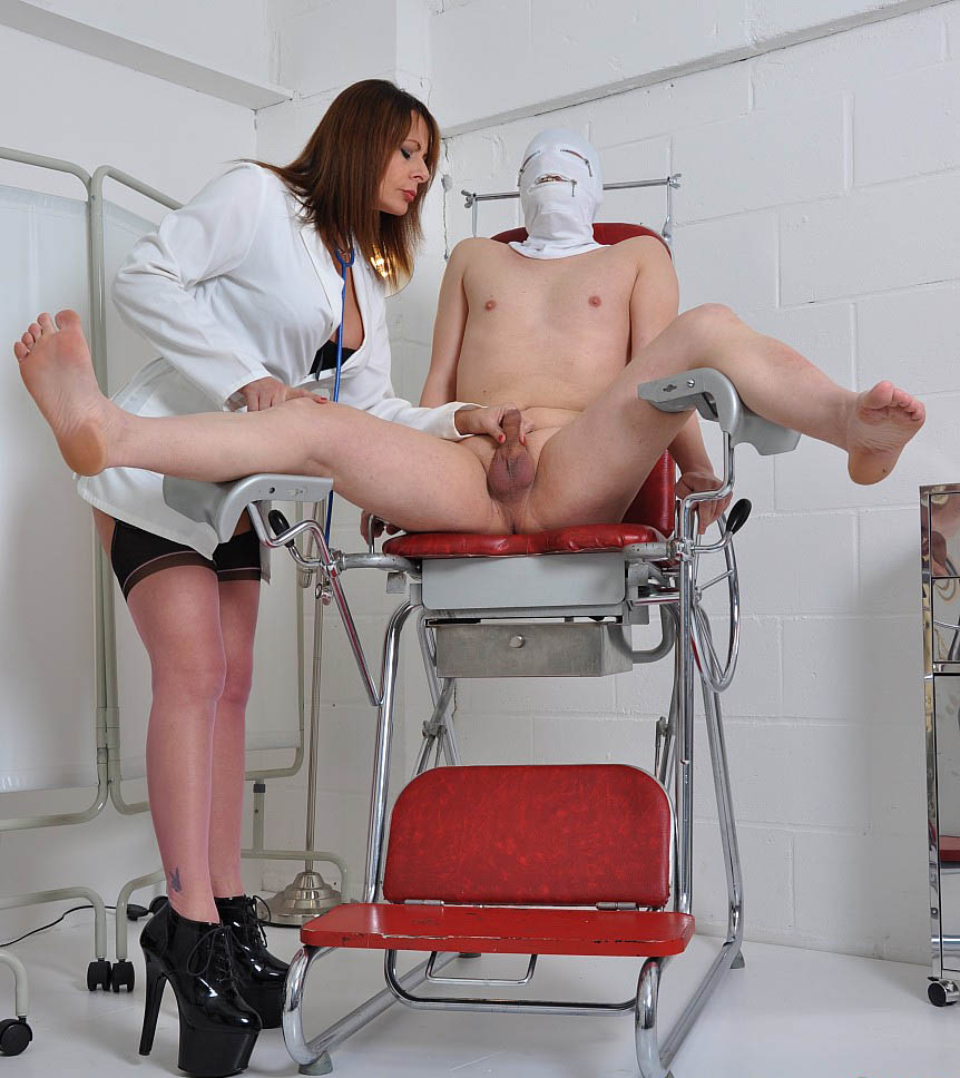Rubber glove nurse milking guy