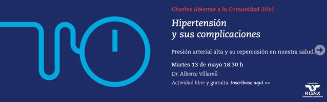 ICBA – CHARLA ABIERTA A LA COMUNIDAD: HIPERTENSIÓN Y SUS COMPLICACIONES