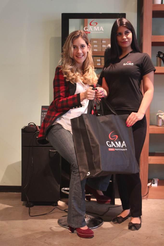 La actriz Clara Alonso visitó el Beauty Point de GA.MA Italy