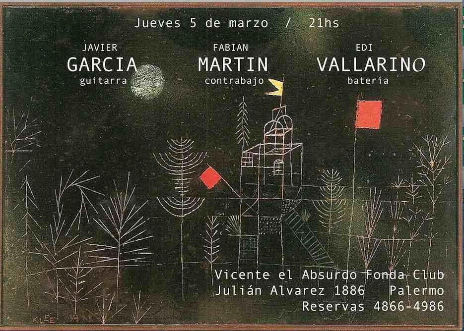 Garcia,Martin, Vallarino  en vivo Jueves 5/3