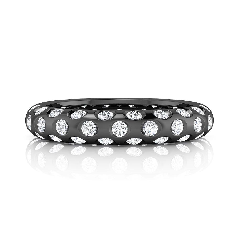 anillo de compromiso oro negro