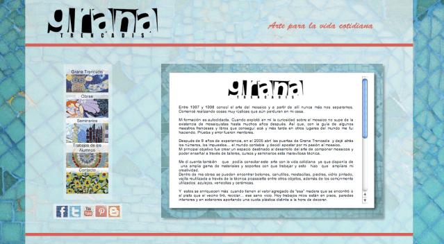 Grana Trencadis presenta su nuevo sitio web