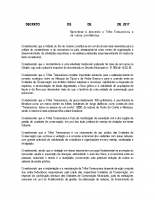 Decreto de reconhecimento da Trilha Transcarioca – Junho 2017