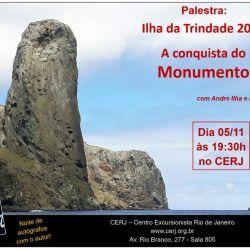 Palestra: Conquista do Monumento na Ilha de Trindade