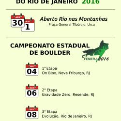 Calendário de competições do Rio de Janeiro – 2016