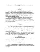 Regulamento do Programa de Certificação de Cursos Básicos de Esportes de Montanha