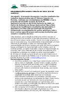 Resultado do Seminário de Mínimo Impacto em Paredes – Urca – 2002