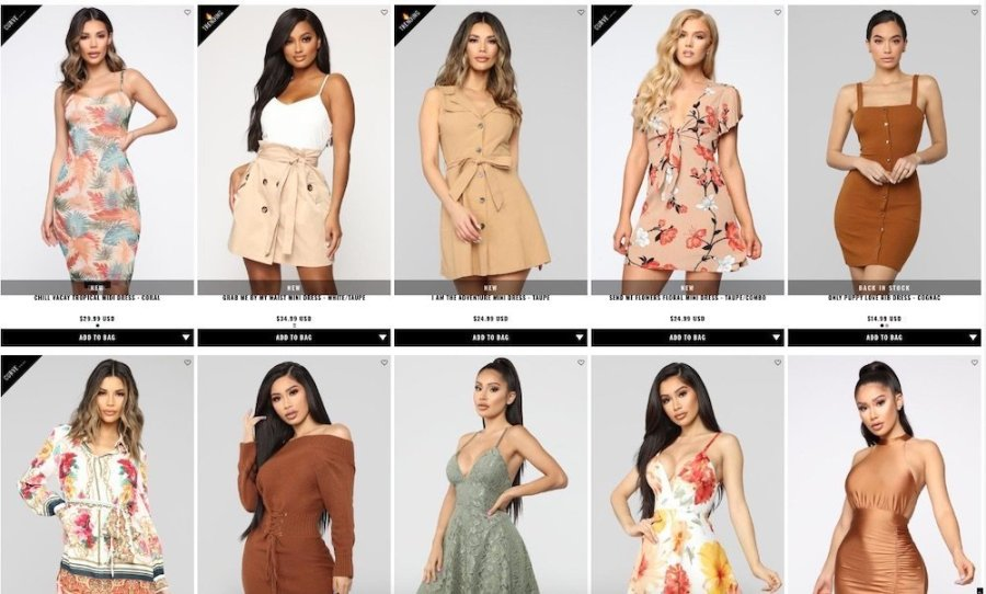 fashion nova dresses