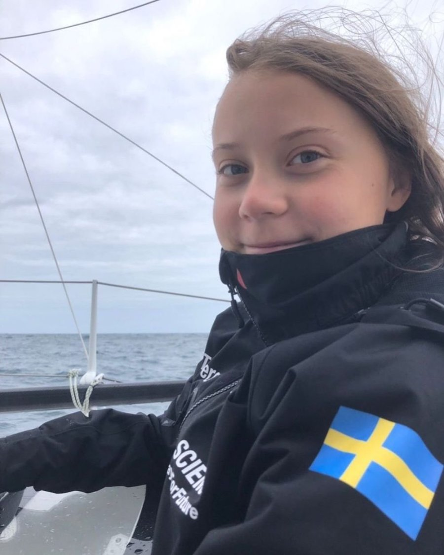 great thunberg sailing trip climate change