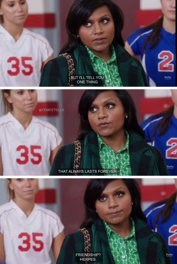 mindy project condoms herpes teen patient
