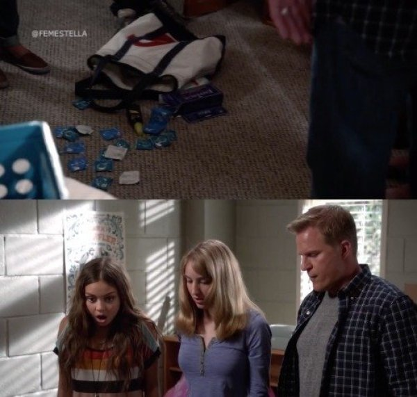 modern family haley college condoms