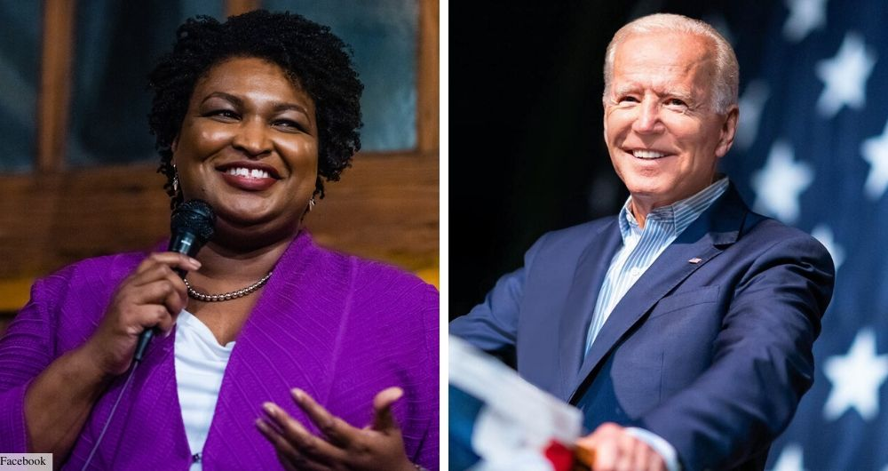 joe biden and stacey abrams