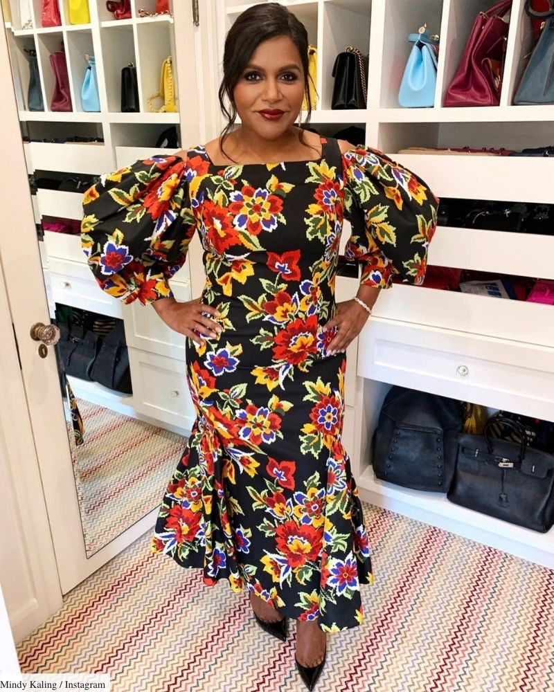 mindy kaling curvy outfits