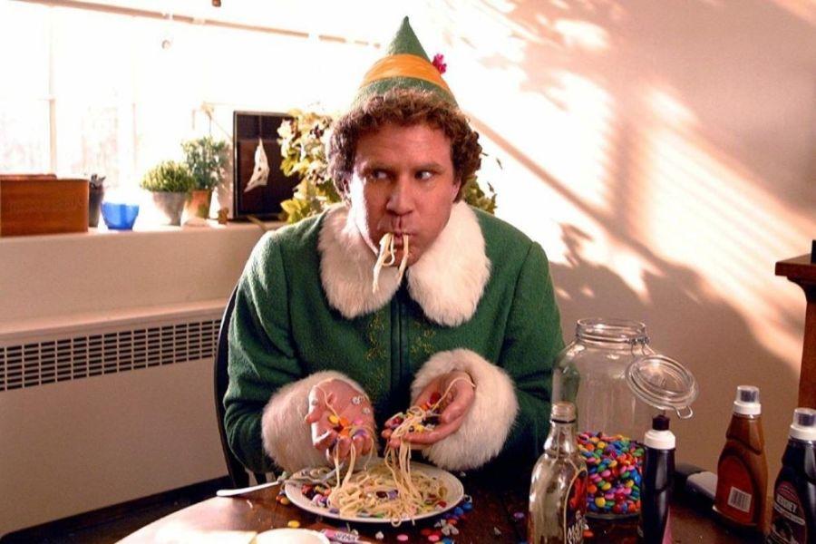 elf spaghetti scene