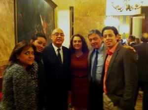 Junto con el presidente del Senado español, Francisco Javier Rojo García
