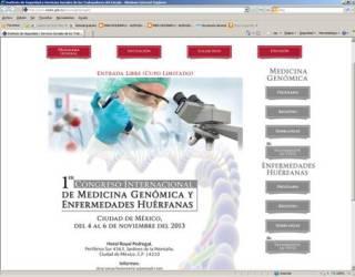 Micro-sitio web del 1er Congreso del ISSSTE de Medicina Genómica y Enfermedades Huérfanas