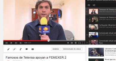 Famosos artistas de Televisa apoyan la labor de FEMEXER