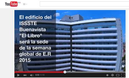 """Edificio conocido como """"El Libro"""", sede del ISSSTE y de la Semana Global 2015 de Enfermedades Raras, a celebrarse en la ciudad de México en Buenavista, del 12 al 16 de octubre de 2015"""