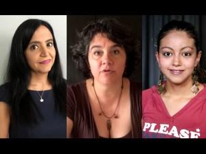 Nos gusta trabajar, y con empeño: Alejandra Zamora, Celia Palacios y Paulina Peña.