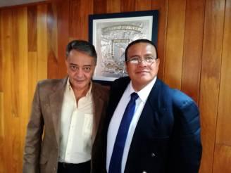 Ambos egresados de la UNAM, Lic. David Peña (FEMEXER) y Lic. Ismael Eslava (CNDH)