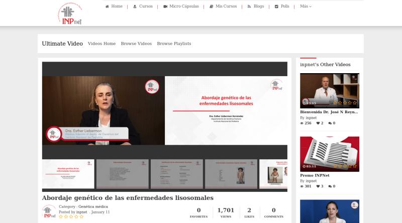 Charla sobre enfermedades lisosomales para IPNnet, por Dra Esther Lieberman Hernández