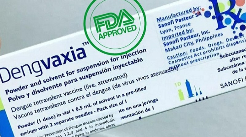 FDA aprueba Dengvaxia® para la protección contra el dengue en áreas endémicas de los EEUU