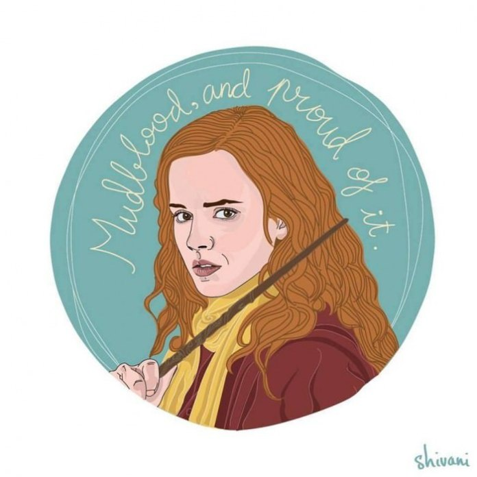 """Mudblood, and proud of it."" —Hermoine, played by Emma Watson in Harry Potter and the Deathly Hallows (2011)"