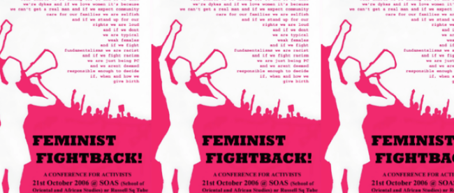 Feminist Fightback Conference Poster 2006
