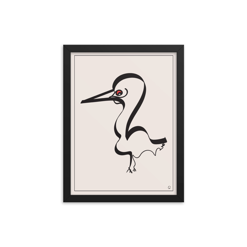 The Red-Eyed Duck | Framed Poster