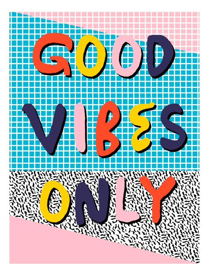 Sunday's Society6 - Wacka retro neon tropical colorful pattern pop art good vibes
