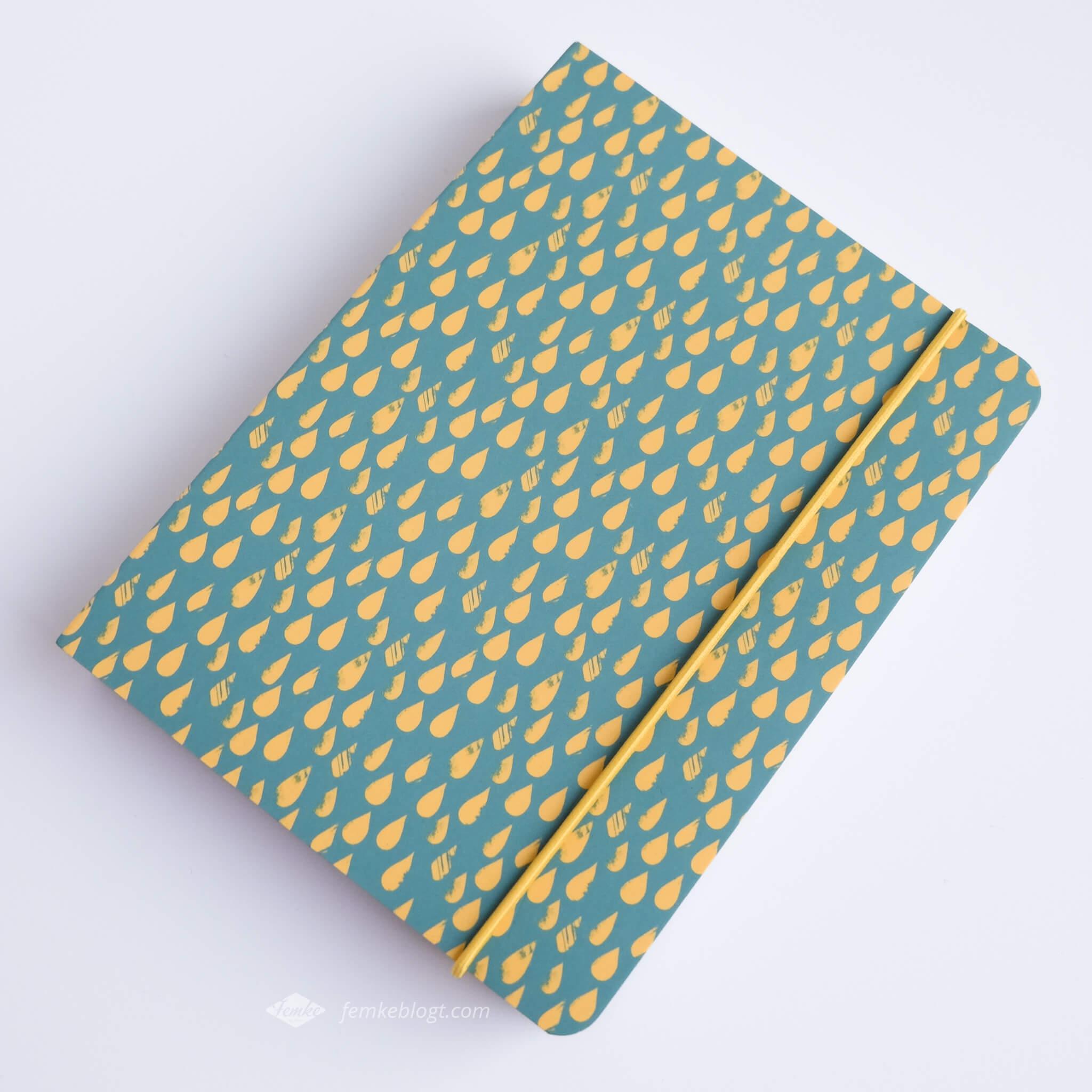 Shoplog Paperchase, notitieboekje raindrops