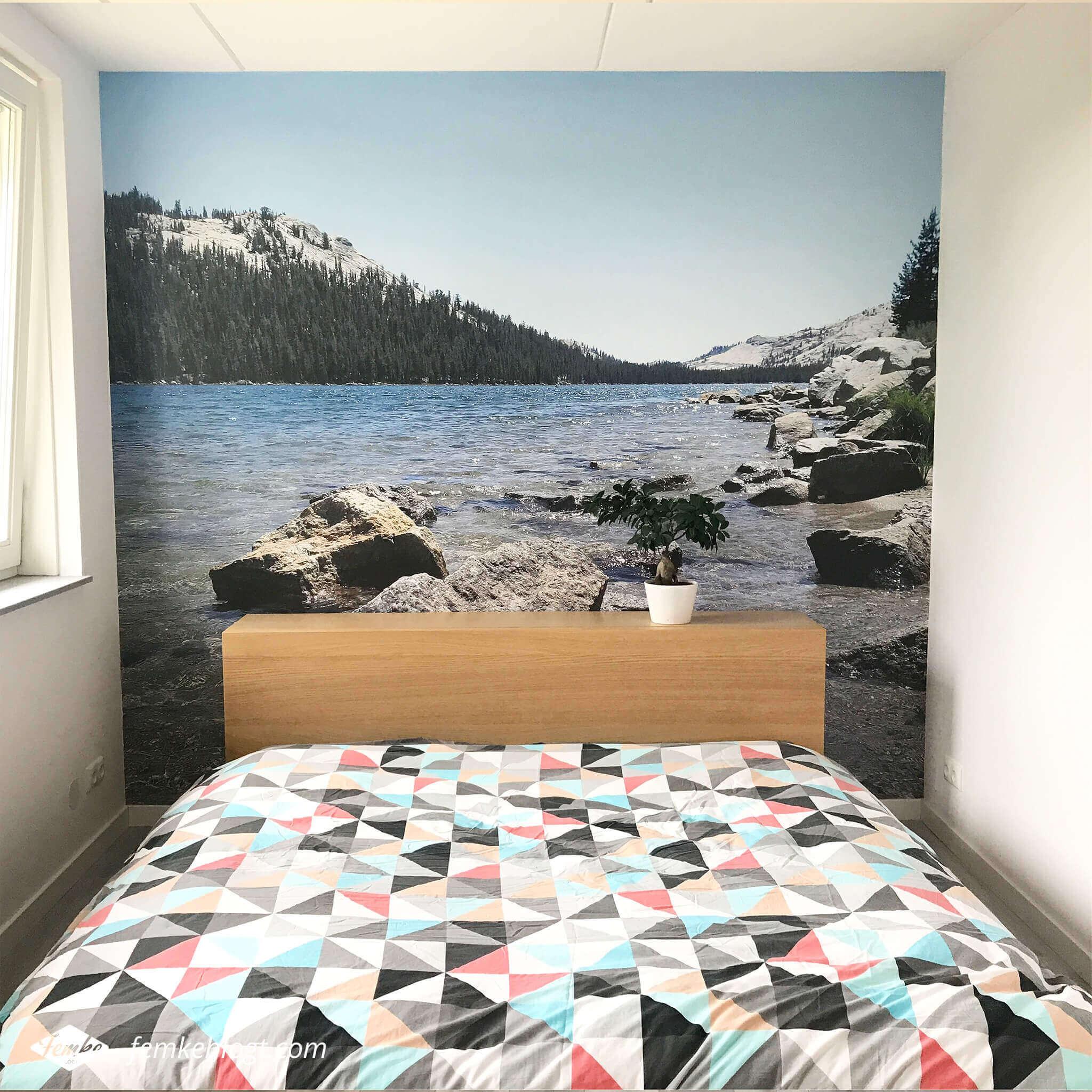 DIY fotobehang van je eigen foto | Het eindresultaat!