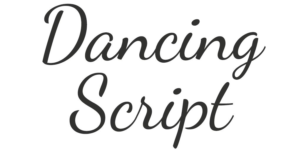 Klassiek lettertype - Dancing Script