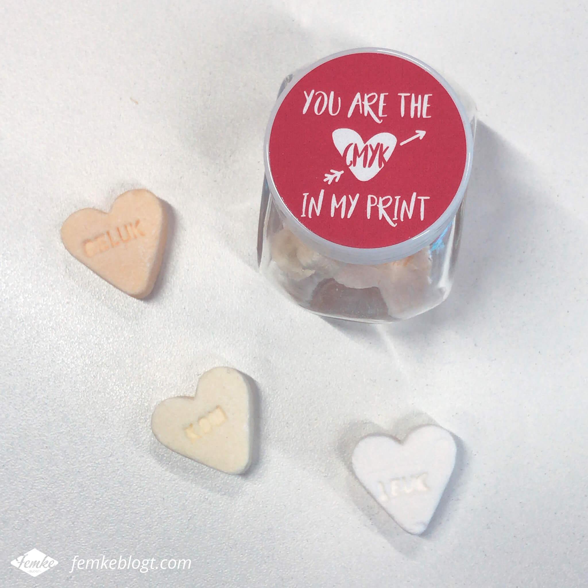 Maandoverzicht februari   Valentijnsdag, You are the CMYK in my print