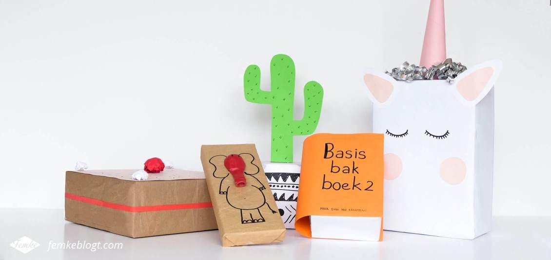 5 Supersnelle sinterklaas surprises | Taart, olifant, cactus, boek en unicorn