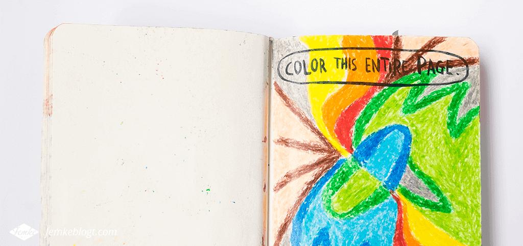 Wreck my sketchbook | Wreck this journal