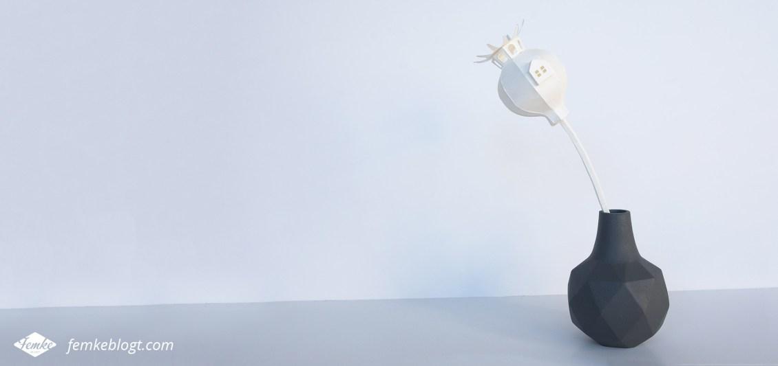 Paper art DIY kit van Vera van Wolferen | Poppy house