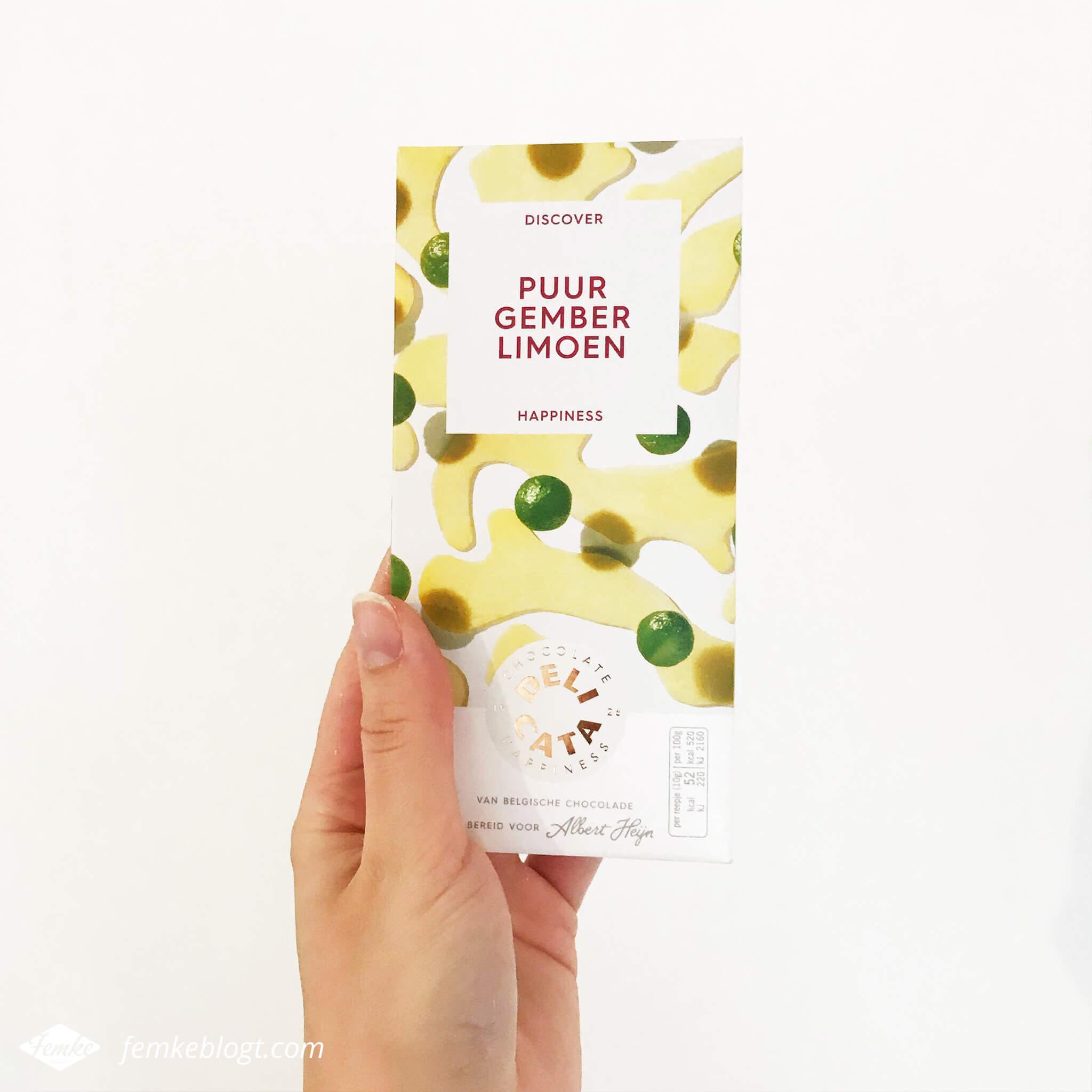 Maandoverzicht november | Delicata chocoladereep puur gember limoen