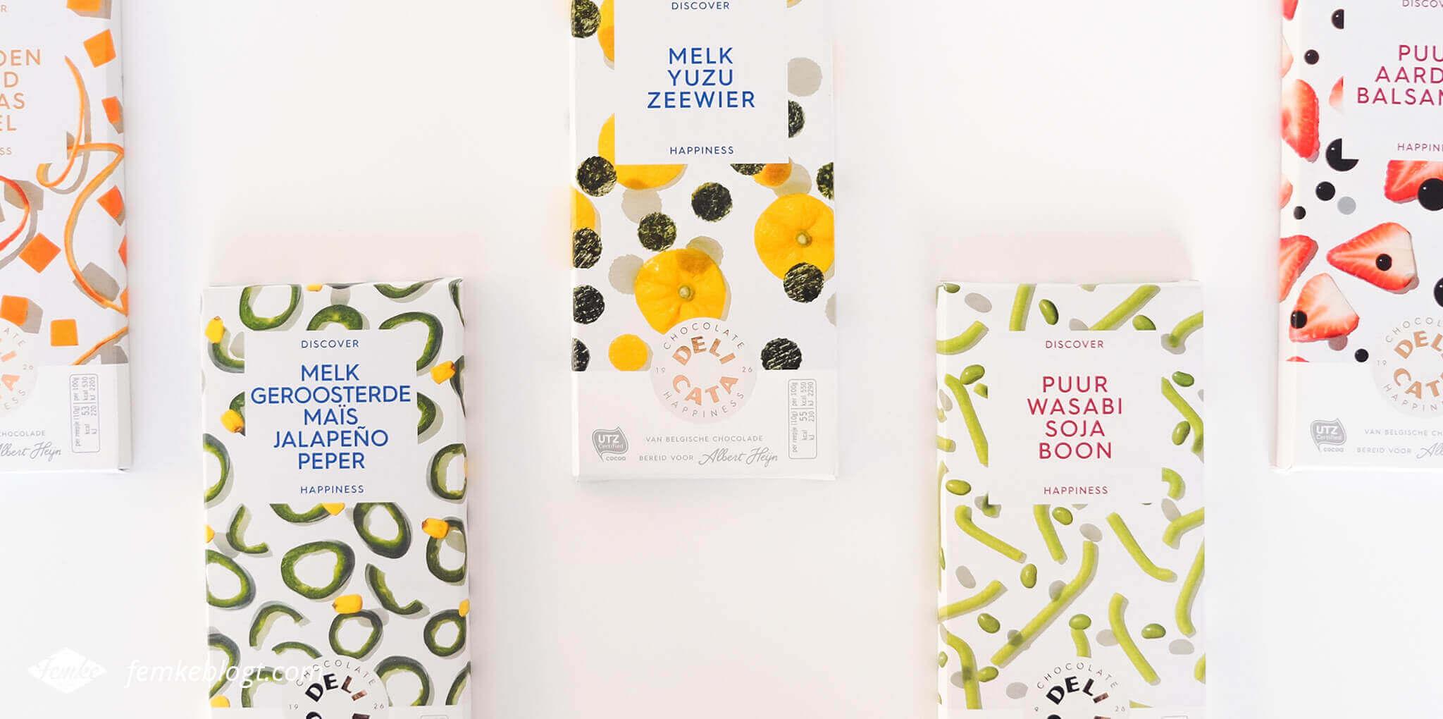 Redesign Delicata chocoladerepen, nieuwe kleurrijke verpakkingen | Discover Happiness