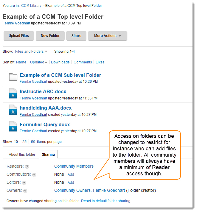 IBM Connections Folders #1: Community Folders – (Social