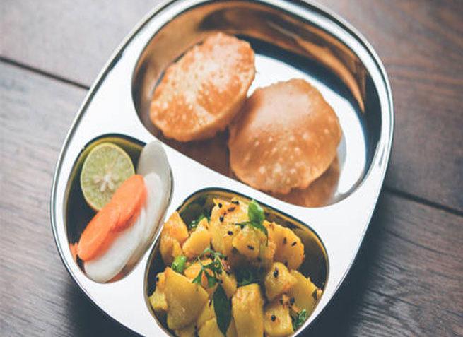 Kids' Lunch box - Puri Bhaji