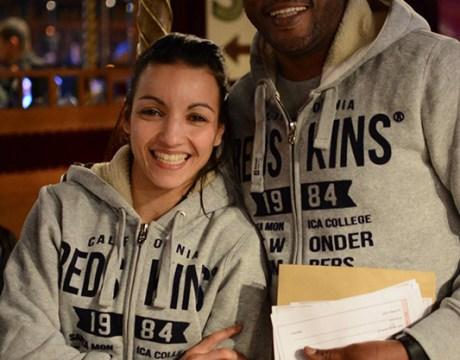 Boxing Beats - Mars 2015 - Sarah Ourahmoune, chargée de projet et Said Bennajem, directeur sportif